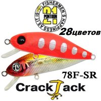 Воблер Pontoon 21 Crackjack 78F-SR 78мм
