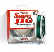 Шнур плетеный Fanatik Super Jig PE X8 100m #0,6 0,12mm/6,9kg Green