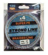 Плетеный шнур Strong Line PE X4 135m 0,08mm/2,73kg orange
