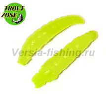 "Мягкая приманка Trout Zone Paddle 1,6"" шартрез сыр"