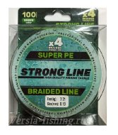 Плетеный шнур Strong Line PE X4 100m 0,08mm/2,73kg green