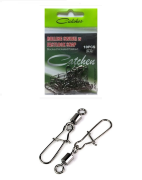 Вертлюг с карабином Catcher Rolling Swivel w Fastlock Snap №8 (черный никель, 10шт.)