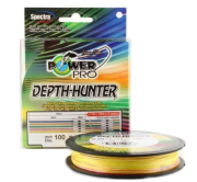 Плетеный шнур Power Pro Depth Hunter Multicolor 100m 0,15mm/9,0kg