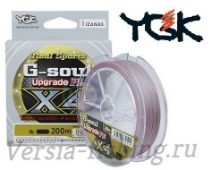 Шнур YGK G-Soul Upgrade PE X4 200m grey #1,2 0,185mm/20lb/9,1kg